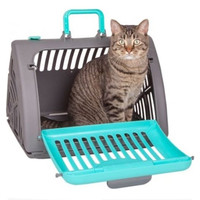 Foldable Pet House Travel Master Carrier Cat Cage   green