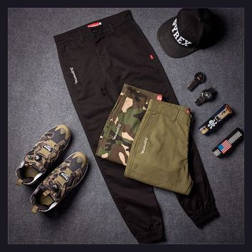 Casual Supreme Embroidery Pants [103864205324]