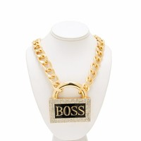 Locked In A Boss Necklace