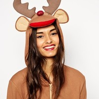ASOS Rudolph Onesuit With Glitter Nose