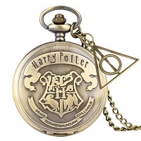 Retro Bronze watches School H Quartz Pocket Watch Analog Necklace Pendant Chain Women Mens relogio Montres with Gifts Accessory
