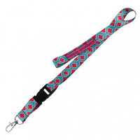 Simply Southern Lanyard Fleur - Coral/Turquoise