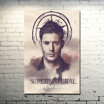 Supernatural - Devil Ghost Art Silk Fabric Poster Print 13x20 32x48 TV Series Pictures For Wall Decor Dean Sam Winchester 030
