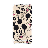 Disney Mickey Mouse iPhone 6s 6 Plus SE 5s 5 Soft Clear Case