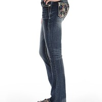 Miss Me Embroidered Boot Stretch Jean