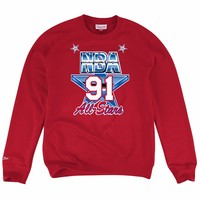 Mitchell & Ness 1991 NBA All Star Game West Fleece Crewneck in Red