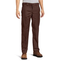 Dickies - 873 Chocolate Brown Slim Fit Straight Leg Work Pant