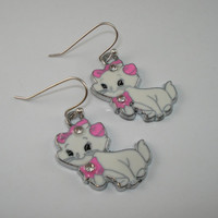 Aristocat charm earrings, Aristocat charms, childrens jewelry, childrens jewelry, matching necklace, gift set for girls, girls earrings