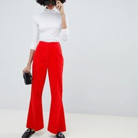 ASOS DESIGN slim kickflare trousers in Cord at asos.com