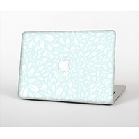 "The Light Teal Blue & White Floral Sprout Skin Set for the Apple MacBook Pro 13"" with Retina Display"