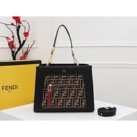 FENDI WOMEN'S LEATHER RUNAWAY HANDBAG SHOULDER BAG
