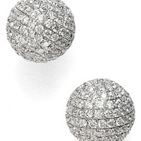 Women's Bony Levy Large Diamond Pave Ball Stud Earrings (Limited Edition) (Nordstrom Exclusive)