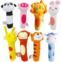 2016 Baby Toys Animal Hand Bells Plush Baby Toy Animal Style Newbron Rattle Toy for Kids