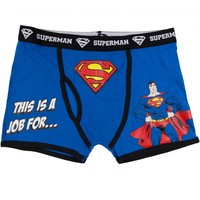 Superman - This Is A Job For Men's Boxer Briefs - 2X-Large
