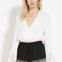 Geo-Embroidered Shorts | Forever 21 - 2000187087