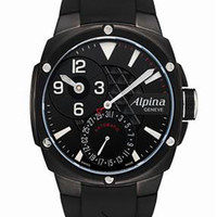 Alpina Automatic Black Dial Black Rubber Mens Watch 950LBB4FBAE6