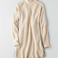 AEO Turtleneck Sweater Dress, Cream