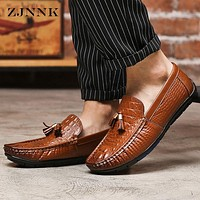 Leather Casual Moccasins Fashion Soft Men Loafers