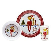 The Elf on the Shelf 3 Piece Mealtime Dinnerware Set By Zak New in Box