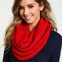 Red Infinity Scarf - LoveCulture