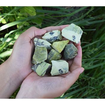 SERPENTINE Raw Crystal - Green Serpentine Jasper Natural Stone - Kundalini Energy Crystal