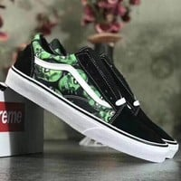 Trendsetter Vans Camouflage Print Canvas Old Skool Flats Sneakers Sport Shoes