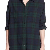 Madewell Plaid Oversize Cotton Shirt | Nordstrom