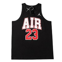 NIKE Jordan New fashion letter people print vest top t-shirt Black