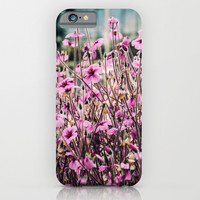 Purple Flowers Blooming iPhone & iPod Case by Pati Designs