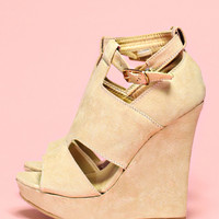 About a Girl Wedge - Beige