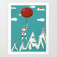 cloud trooper Art Print by bri.buckley