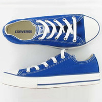 """""""Converse"""" Fashion Canvas Flats Sneakers Sport Shoes Low tops Sapphire blue"""