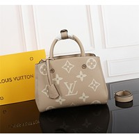 lv louis vuitton women leather shoulder bags satchel tote bag handbag shopping leather tote crossbody 303