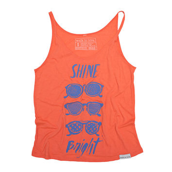Shine Bright Coral Women's Slouchy Tank