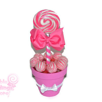 Medium Pink Lollipop Centerpiece, Pink, Lollipop, Wedding, Bridal Shower, Candy, Centerpiece, Candy Buffet, Sweet Sixteen, Quinceanera