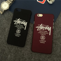 fashion stussy Hard Plastic Ultra Thin Back Cover for Apple iPhone 5 5s se 6 6s plus 4.7&5.5inch Case  back cover Plastic case