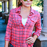 COLD CREEK FLANNEL IN CORAL
