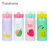 New Fruit Pattern Thermocup Stainless Steel Thermos Bottle 350ML Outdoor Vacuum Insulation Water Bottle Transhome