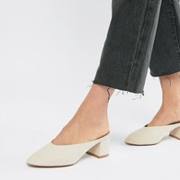 QUPID Pointed Heeled Mules at asos.com