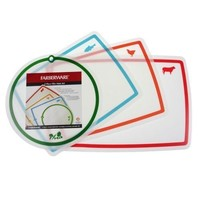 Farberware 4pc Flexible Cutting Board Set 4 Food Types