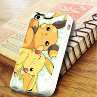 Pokemon Pikachu and Raichu Anime   For iPhone 6 Cases   Free Shipping   AH0997