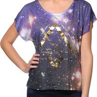 G Girl Galaxy Purple Scoop Neck Tee Shirt at Zumiez : PDP
