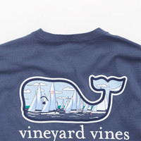 Sail Race Whale Graphic Pocket T-Shirt