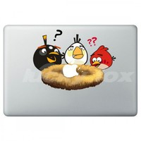 Angry Bird--Apple decal for Macbook/Pro/Air iPhone iPad sticke | luckyfox - Accessories on ArtFire