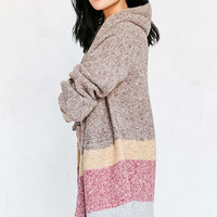 Silence + Noise Hooded Open Cardigan - Urban Outfitters