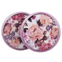 Mauve Floral Plugs (2mm-27mm)