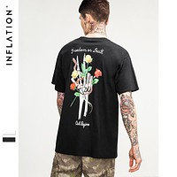Abstract Graphic Flower Printed Funny t-shirt Mens Tee Shirts Cotton Fashion t-shirts For Boys/girls
