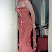 Marilyn Monroe's Amazing Orange Glittering Gown by DaintyRascal