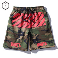 Casual Summer Camouflage Stripes Shorts [8822204739]