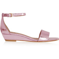 Marc by Marc Jacobs | Metallic leather wedge sandals | NET-A-PORTER.COM